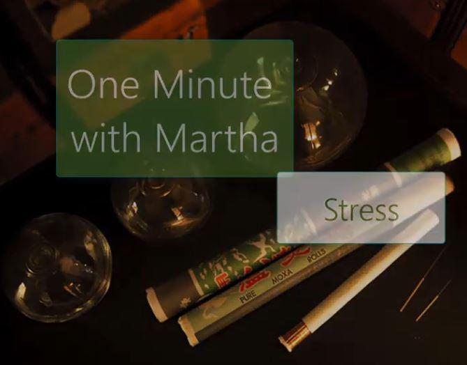minute with martha stress